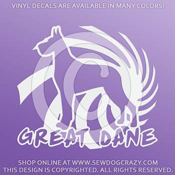 Cool Great Dane Vinyl Decals