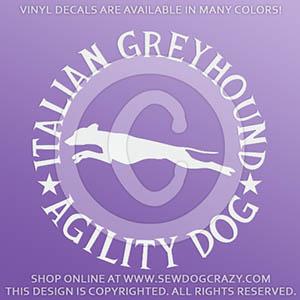 Italian Greyhound Agility Decals