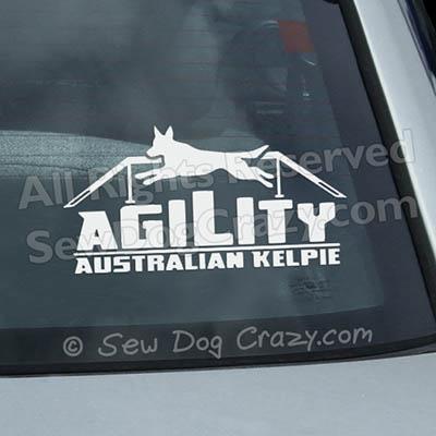 Australian Kelpie Agility Window Decals