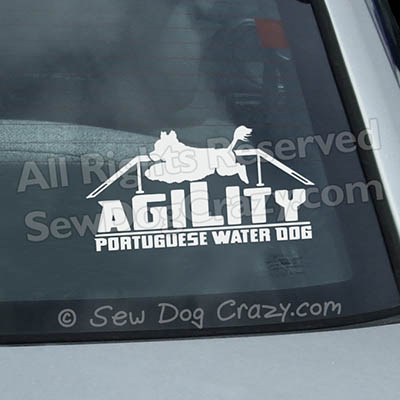 Portuguese Water Dog Window Stickers
