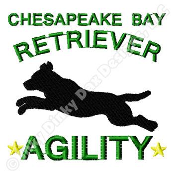 Chesapeake Bay Retriever Agility Embroidery