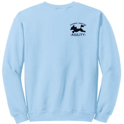 Embroidered Chinese Crested Agility Sweatshirt