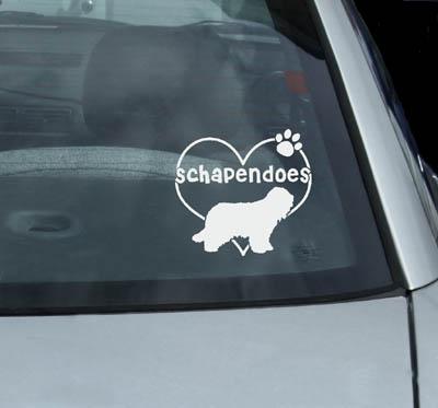Vinyl Schapendoes Stickers for Cars