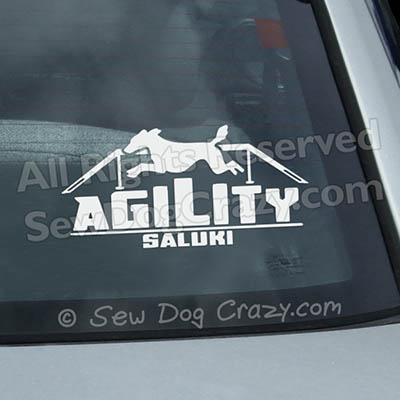 Agility Saluki Dog Walk Vinyl Decals