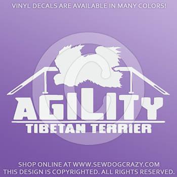 Tibetan Terrier Agility Vinyl Decals