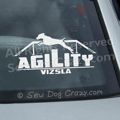 Vizsla Agility Dog Walk Window Sticker