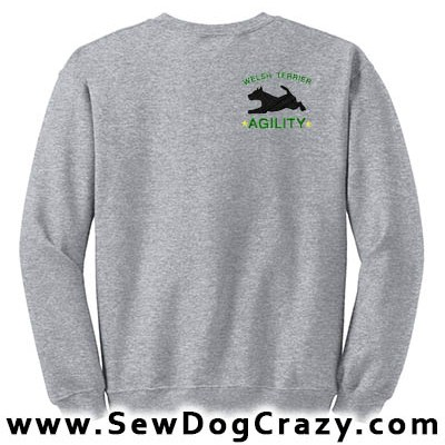 Embroidered Welsh Terrier Agility Sweatshirts