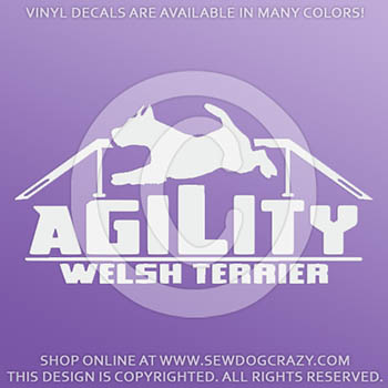 Welsh Terrier Agility Dog Walk Decals
