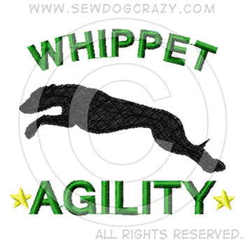 Embroidered Whippet Agility Shirts