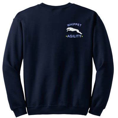 Embroidered Whippet Agility Sweatshirt