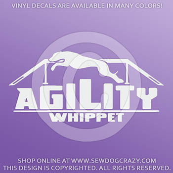 Whippet Agility Car Decal