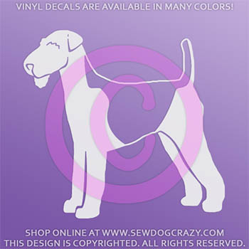 Airedale Silhouette Car Decal