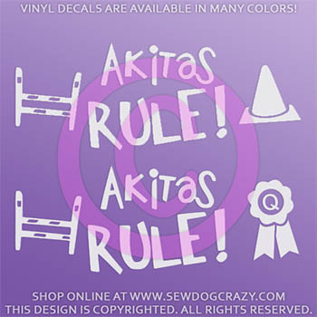 Akitas Rule Decal
