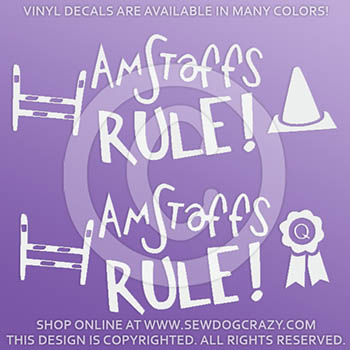 Amstaffs Rule Decals