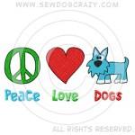 Cartoon Peace Love Dogs Shirts