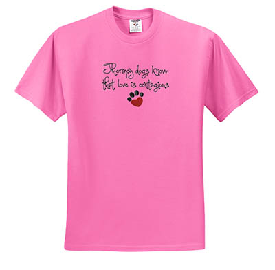 Embroidered Therapy Dog TShirt