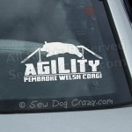Corgi Agility Car Stickers