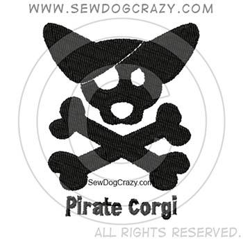 Embroidered Pirate Corgi Shirts