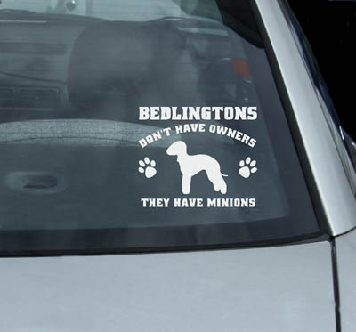 Vinyl bedlington Terrier decals for cars
