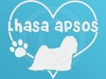 I Love Lhasa Apsos Decal