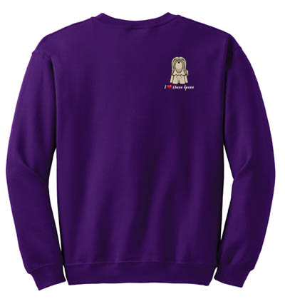 I Love Lhasa Apsos Sweatshirt Embroidery