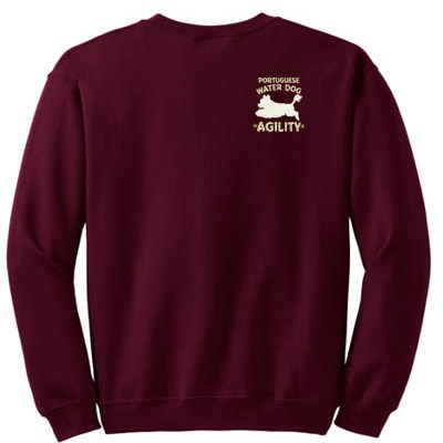 Embroidered Portuguese Water Dog Agility Sweatshirt