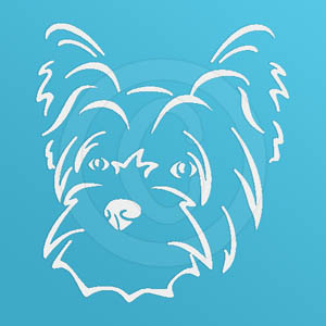 Puppy Cut Yorkie Decal
