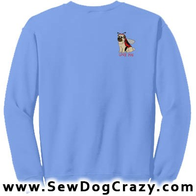 Ladybug Pug Cartoon Sweatshirt