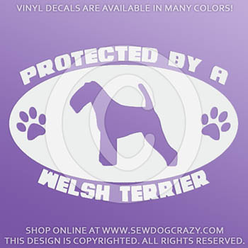 Protected by a Welsh Terrier Car Decals