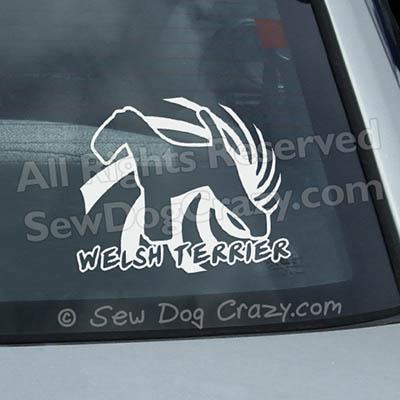 Spiral Welsh Terrier Decals
