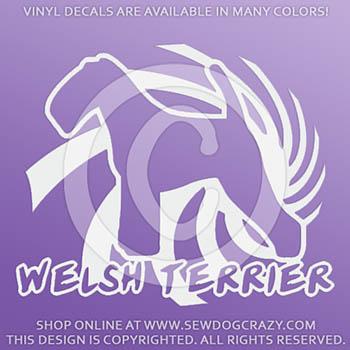 Spiral Welsh Terrier Vinyl Decals