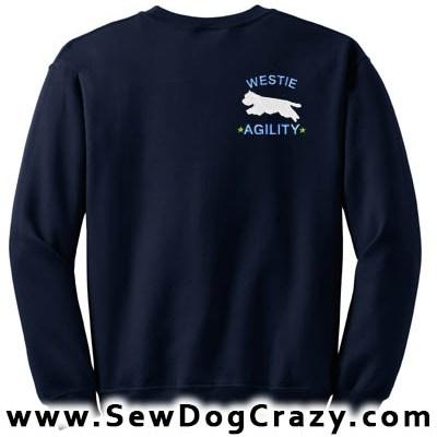 Embroidered Westie Agility Sweatshirts