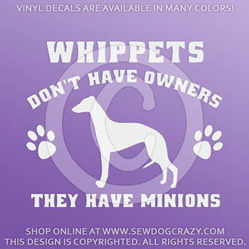 Funny Whippet Vinyl Stickers
