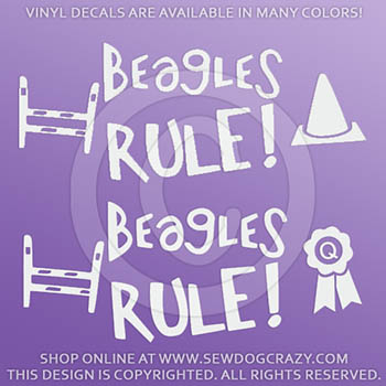Beagles Rule Dog Sports Decals