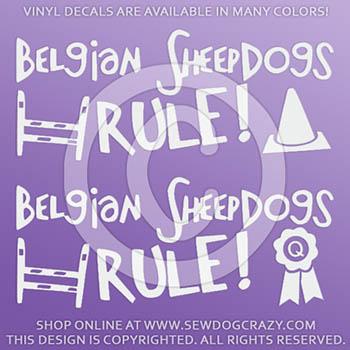 Belgian Sheepdog Dog Sports Stickers