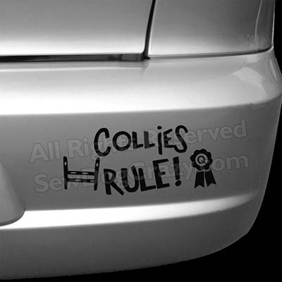 Collies Rule Bumper Stickers