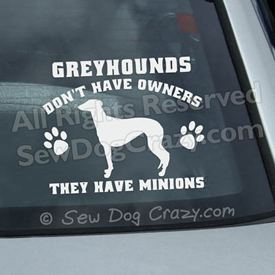 Funny Greyhound Car Window Sticker