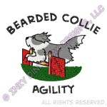 Cartoon Bearded Collie Agility Apparel