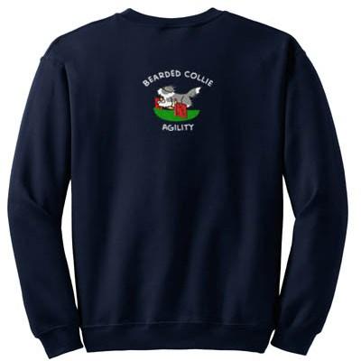 Embroidered Agility Bearded Collie Sweatshirt