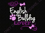 English Bulldog Lover Embroidery