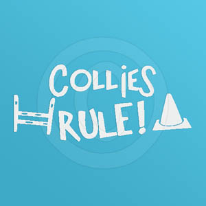 Collies Rule Decal