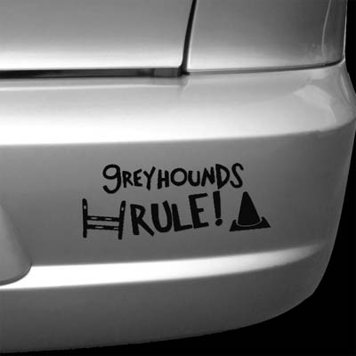 Die cut vinyl Greyhound Stickers