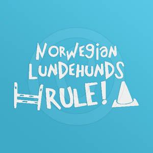 Norwegian Lundehunds Rule Decal