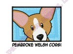 Cute Corgi Cartoon Embroidery