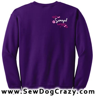 Pretty Embroidered Samoyed Sweatshirt