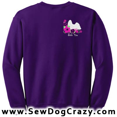 Embroidered Shih Tzu Sweatshirts