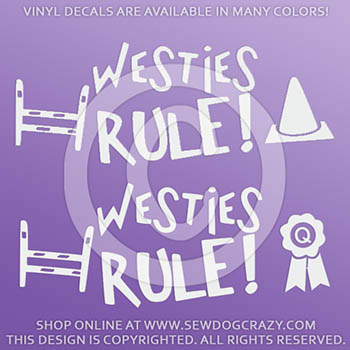 Westies Rule Vinyl Stickers