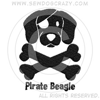 Embroidered Pirate Beagle Shirts