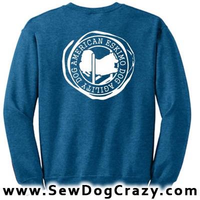 Agility Dog American Eskimo Sweatshirt