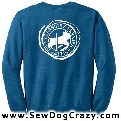 Yorkshire Terrier Agility Sweatshirts